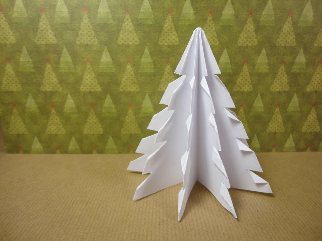 Make Paper Xmas Tree Diy Tutorial