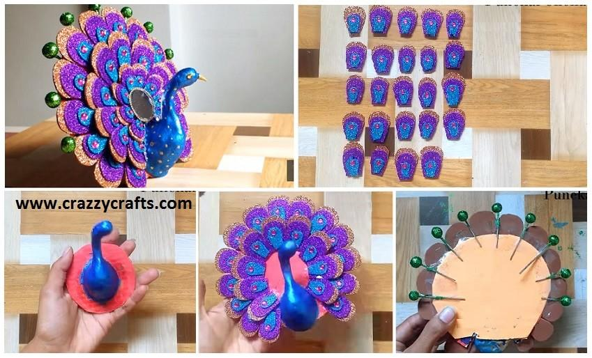 Make Peacock Best Out Waste Crazzy Crafts