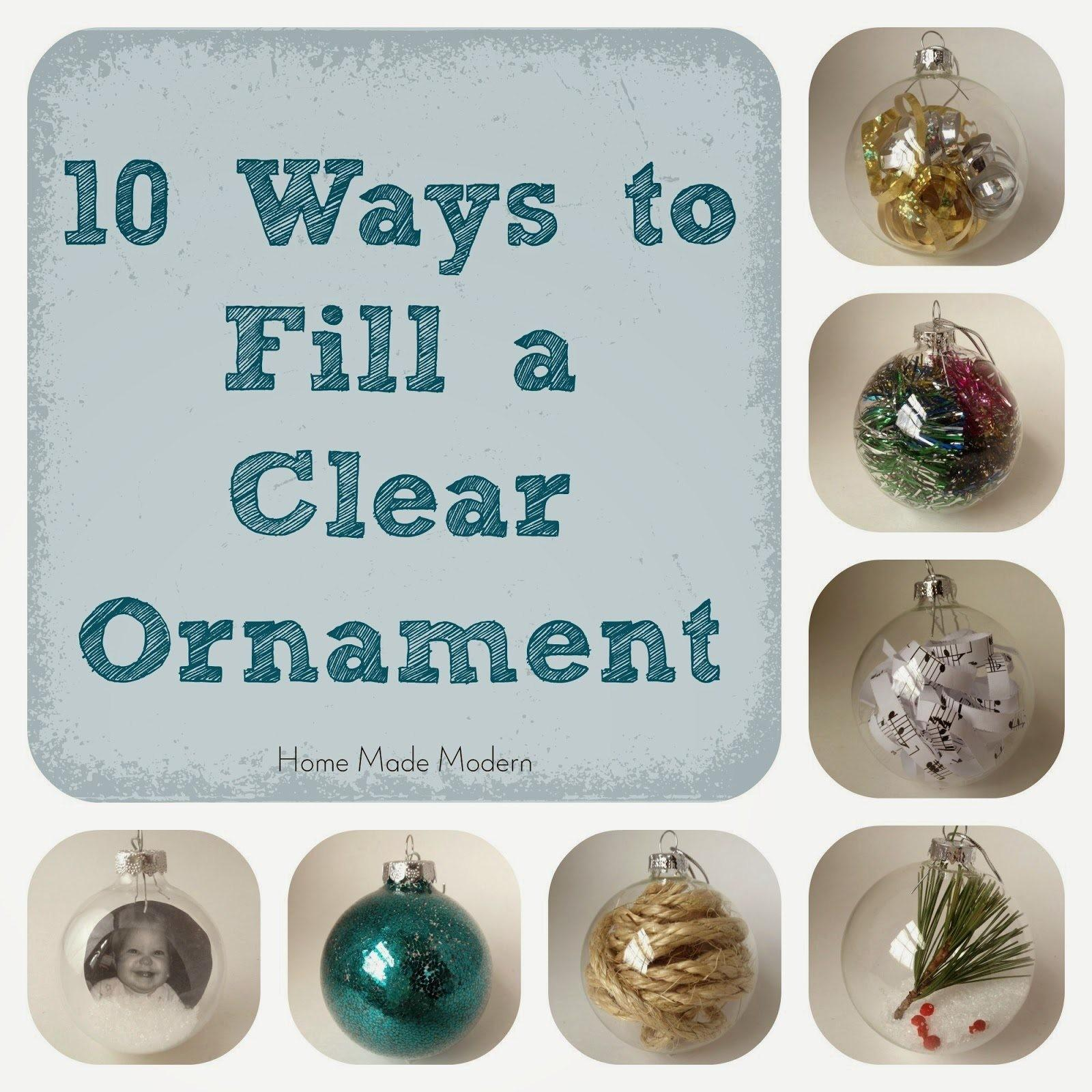 Make Personalized Christmas Ornaments Home Made