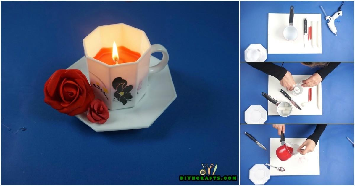 Make Personalized Teacup Candle Easy Way