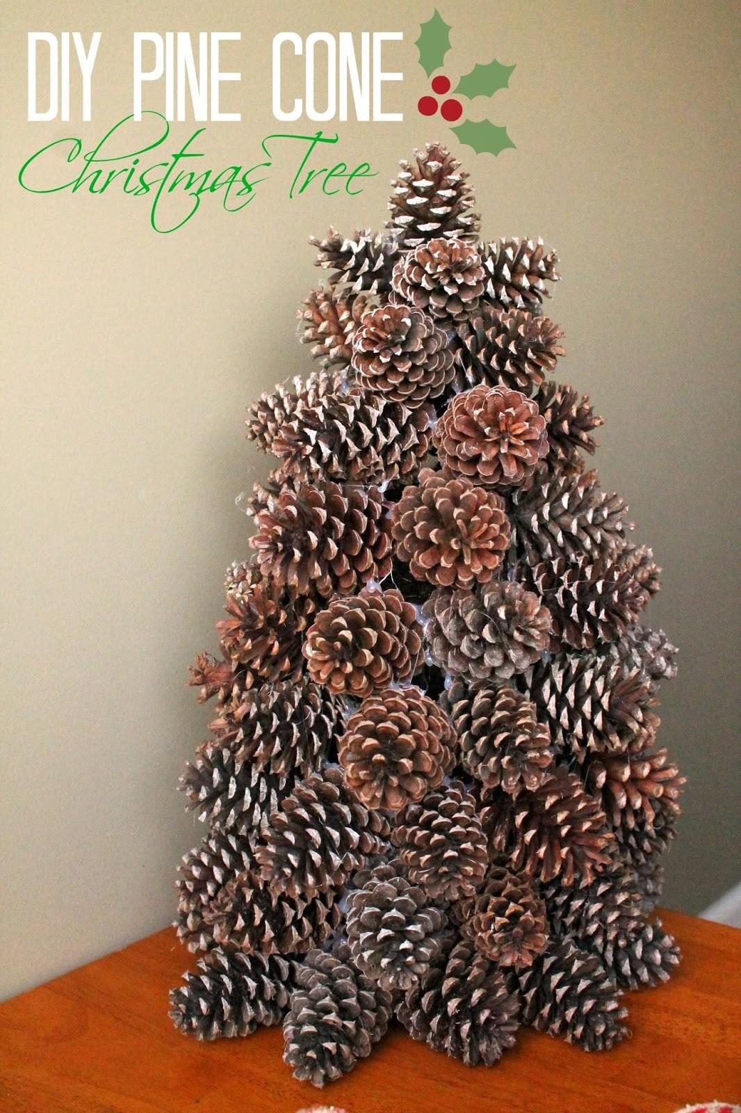 Make Pine Cone Christmas Tree Louisiana Bride