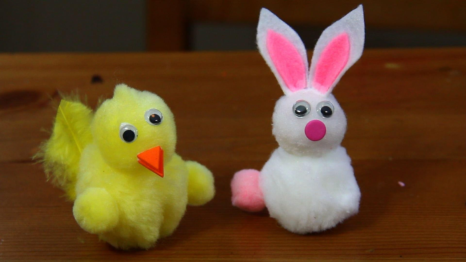 Make Pom Easter Bunnies Chicks Craft