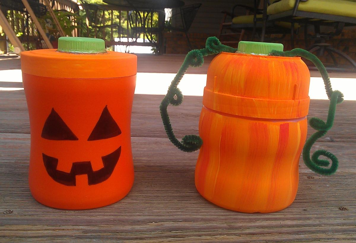 Make Pumpkins Jack Lanterns Out Recycled
