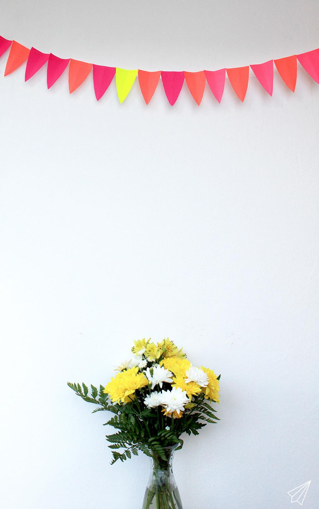 Make Quick Easy Paper Bunting Garland Kaa