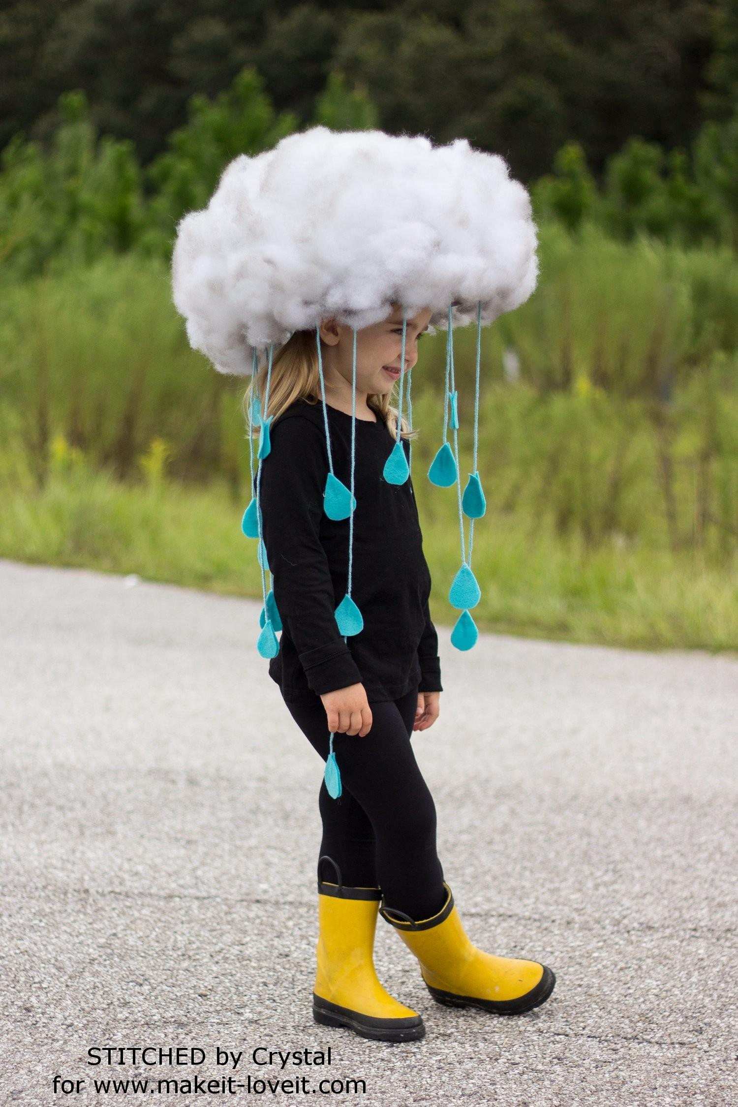 Make Quick Easy Rain Cloud Costume All Ages