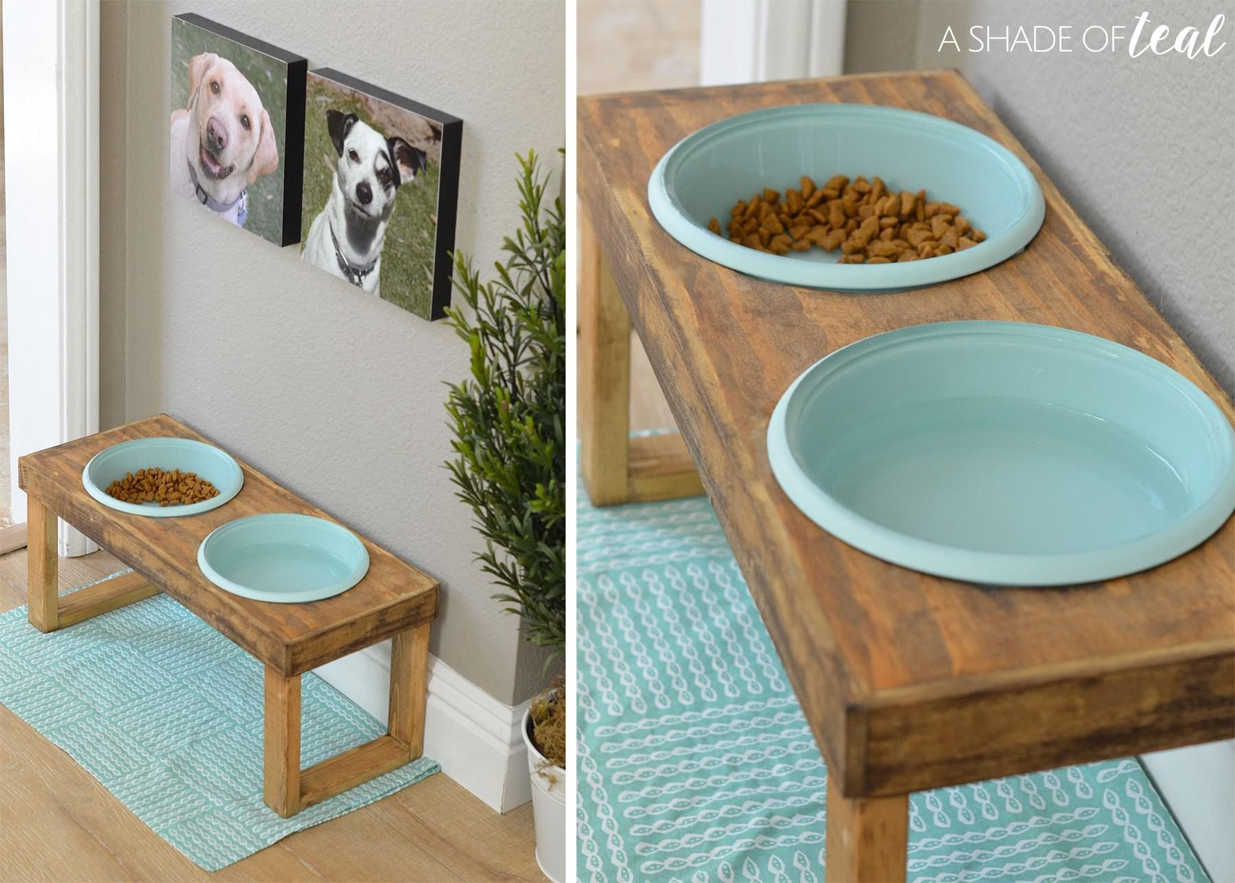 Make Raised Dog Feeder