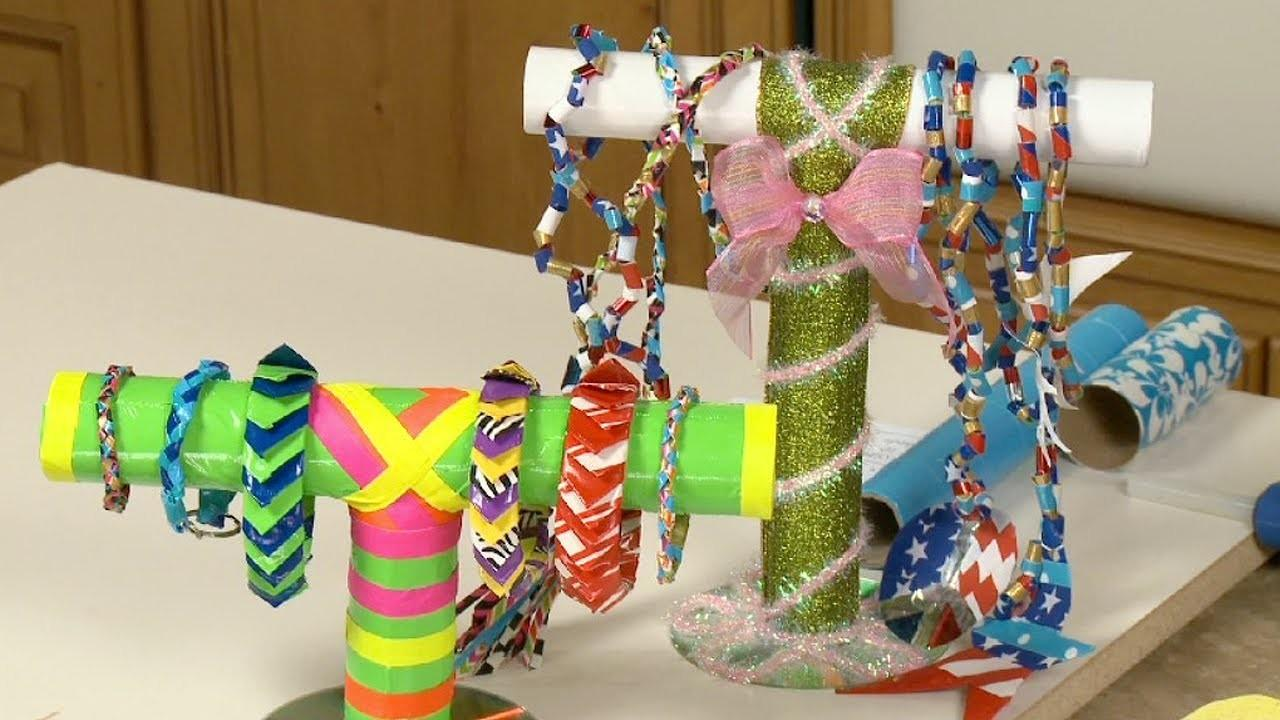 Make Recycled Duct Tape Jewelry Stand Sophie