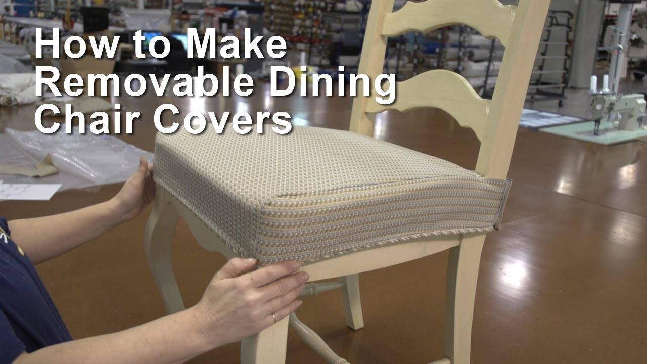 Make Removable Dining Chair Covers