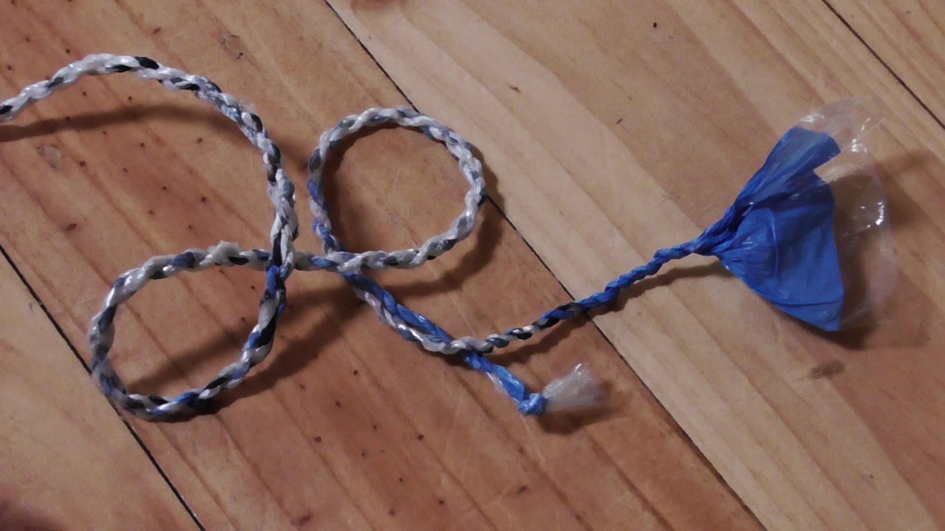 Make Rope Out Recycled Plastic Bags