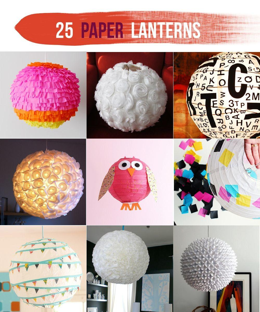 Make Round Tissue Paper Lanterns Imgkid