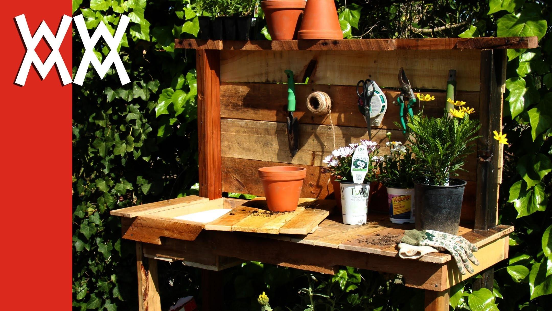 Make Rustic Potting Bench Diy Project Using Upcycled