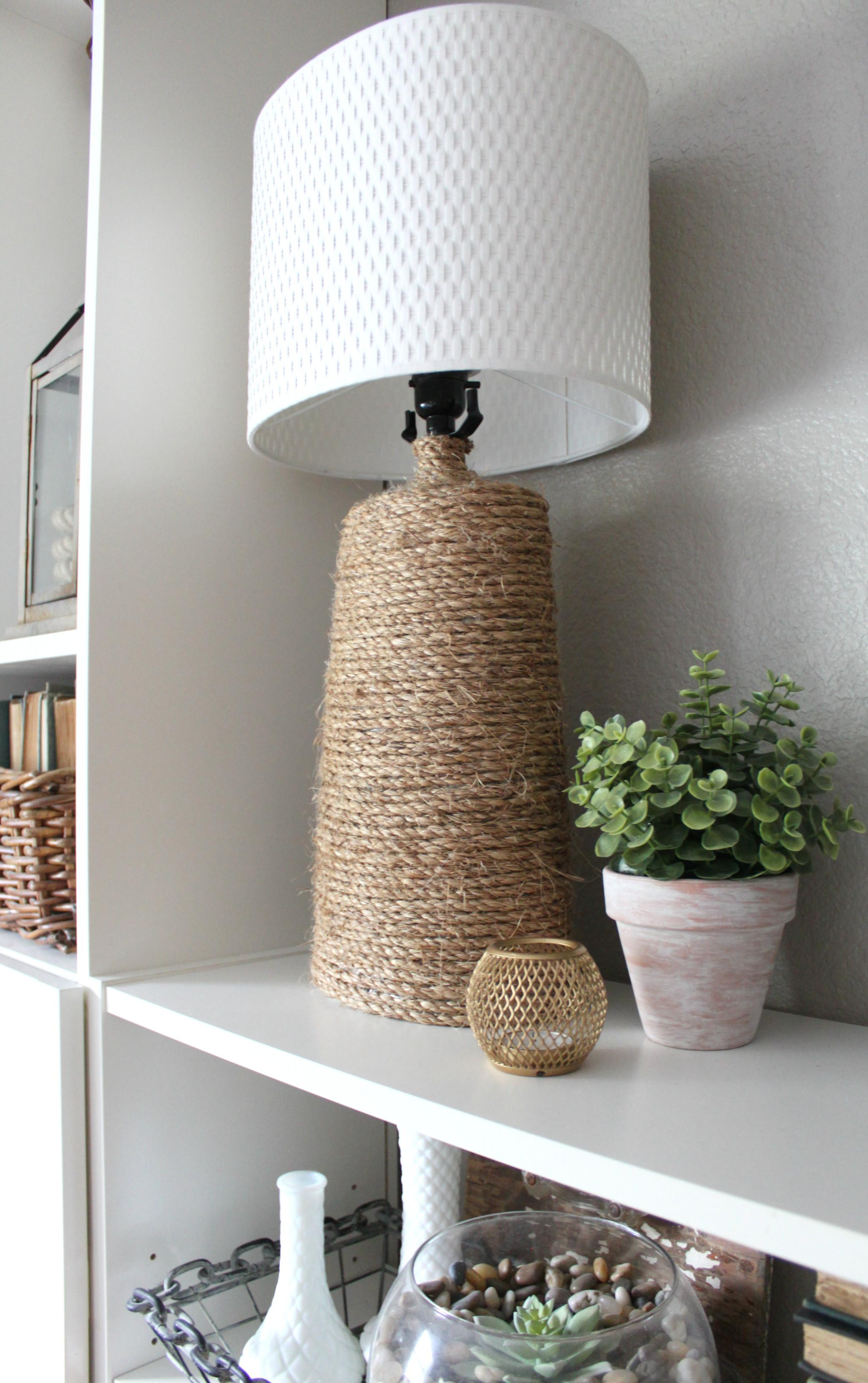 Make Rustic Rope Wrapped Lamp Base Inspired Nest