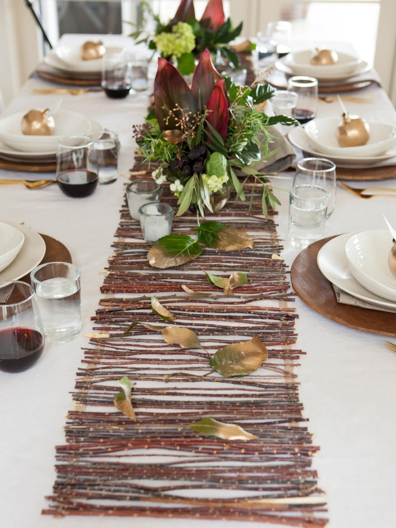 Make Rustic Twig Table Runner
