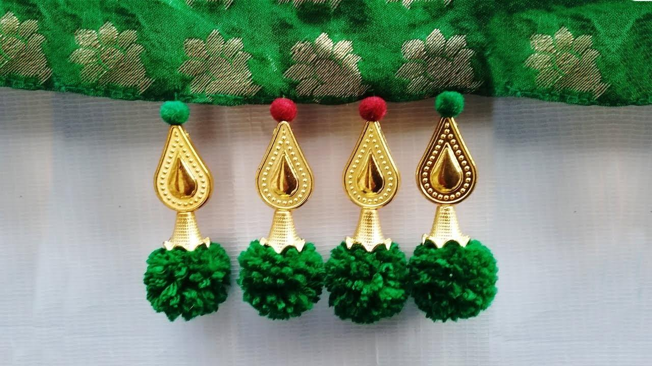 Make Saree Kuchu Pom Poms Beads
