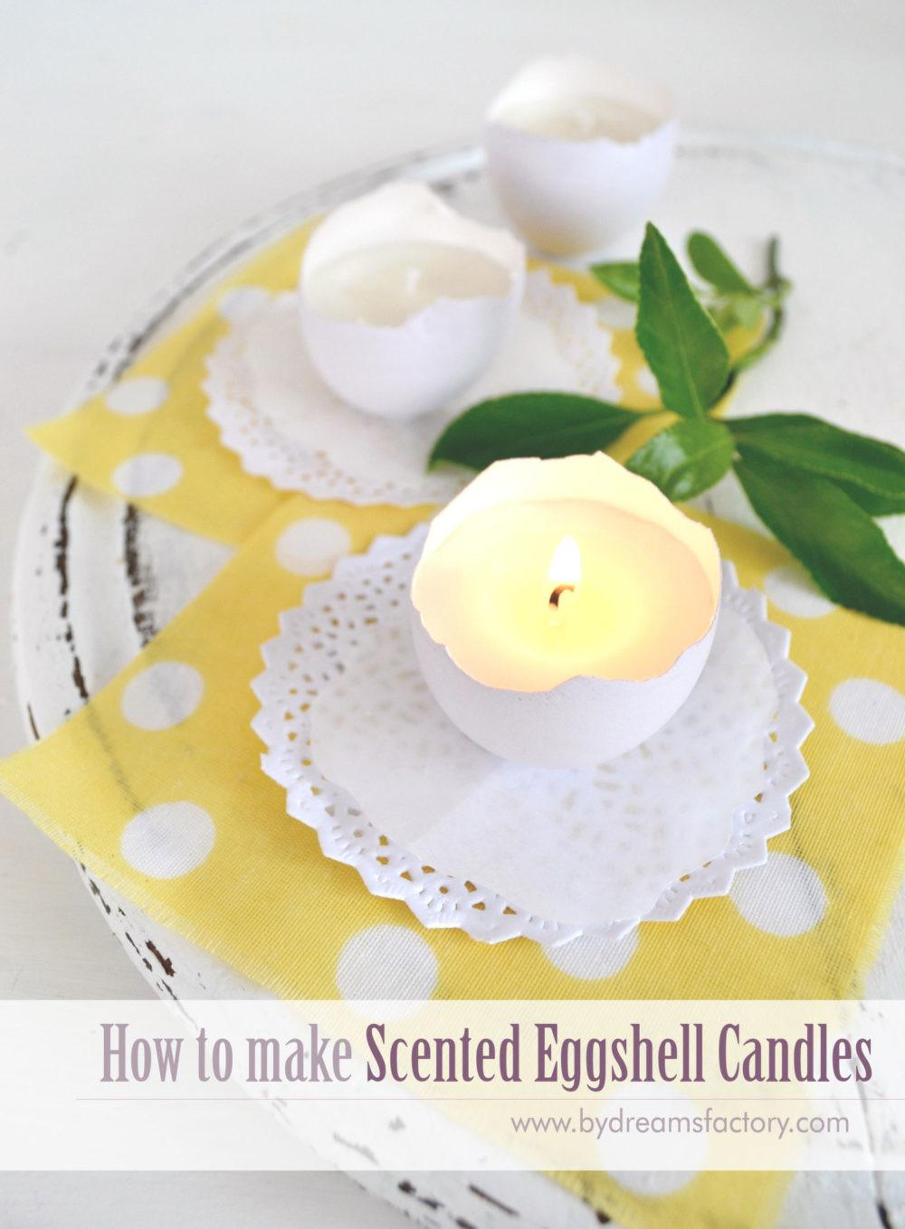 Make Scented Eggshell Candles Dreams Factory
