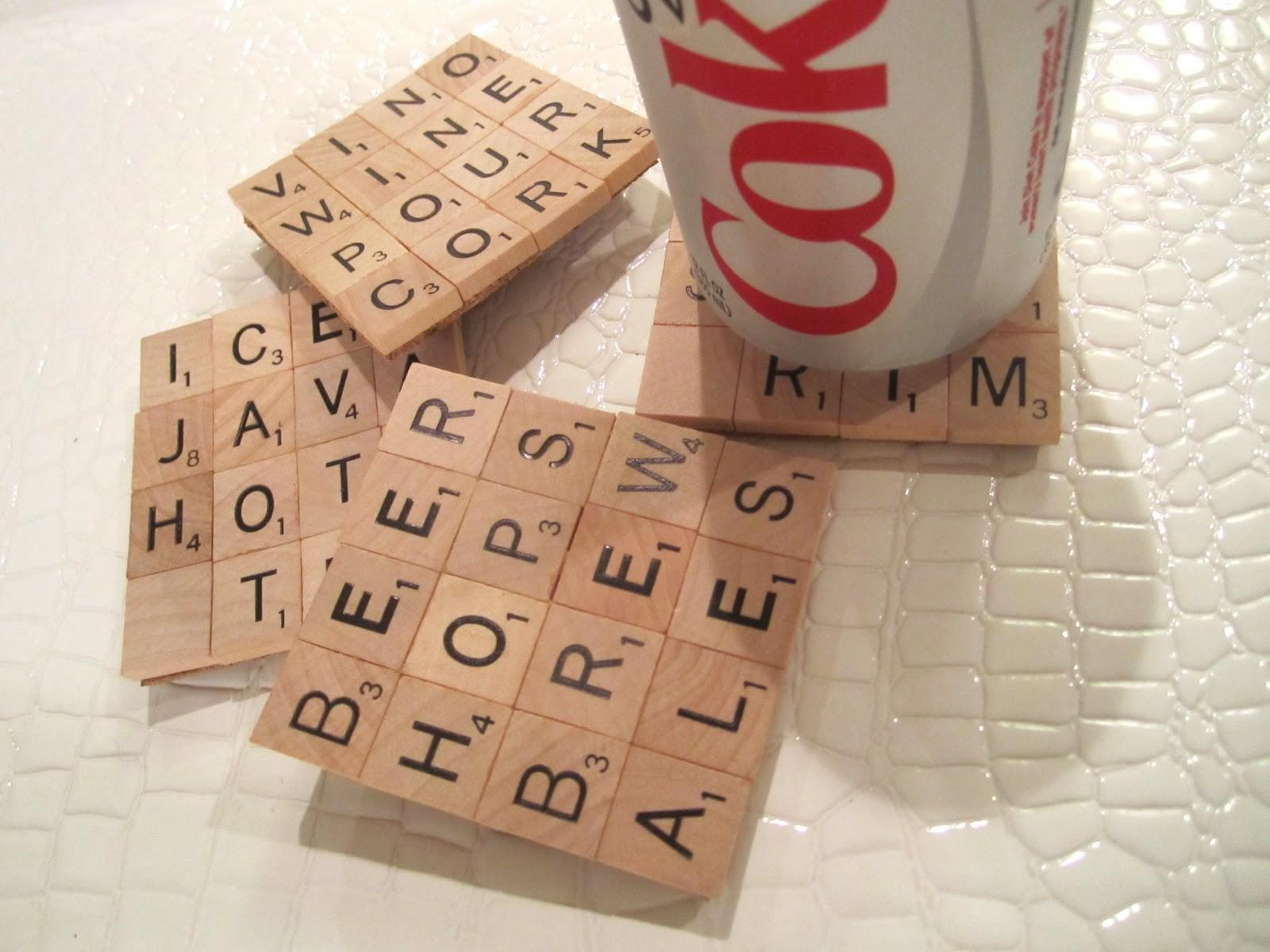 Make Scrabble Tile Coasters Dollar Store Crafts
