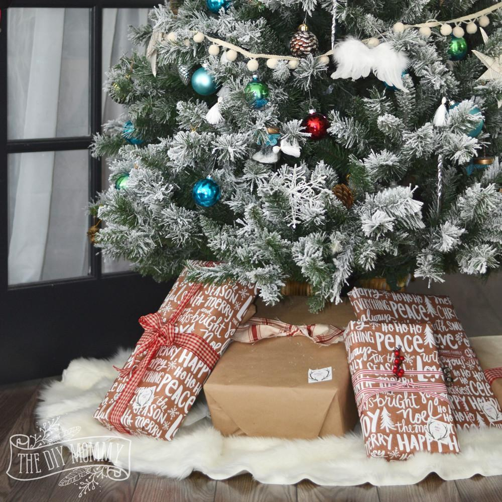 Make Sew Faux Fur Christmas Tree Skirt