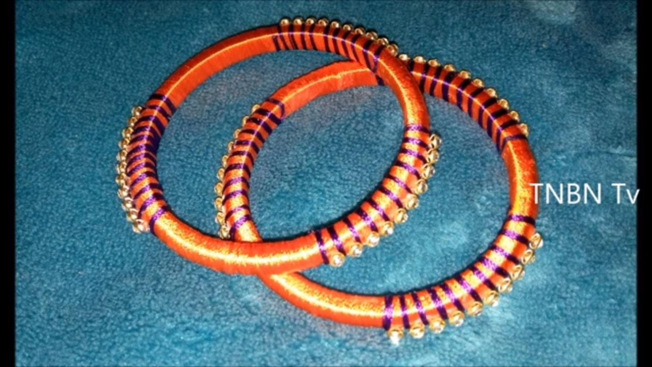 Make Silk Thread Wrapped Bangles