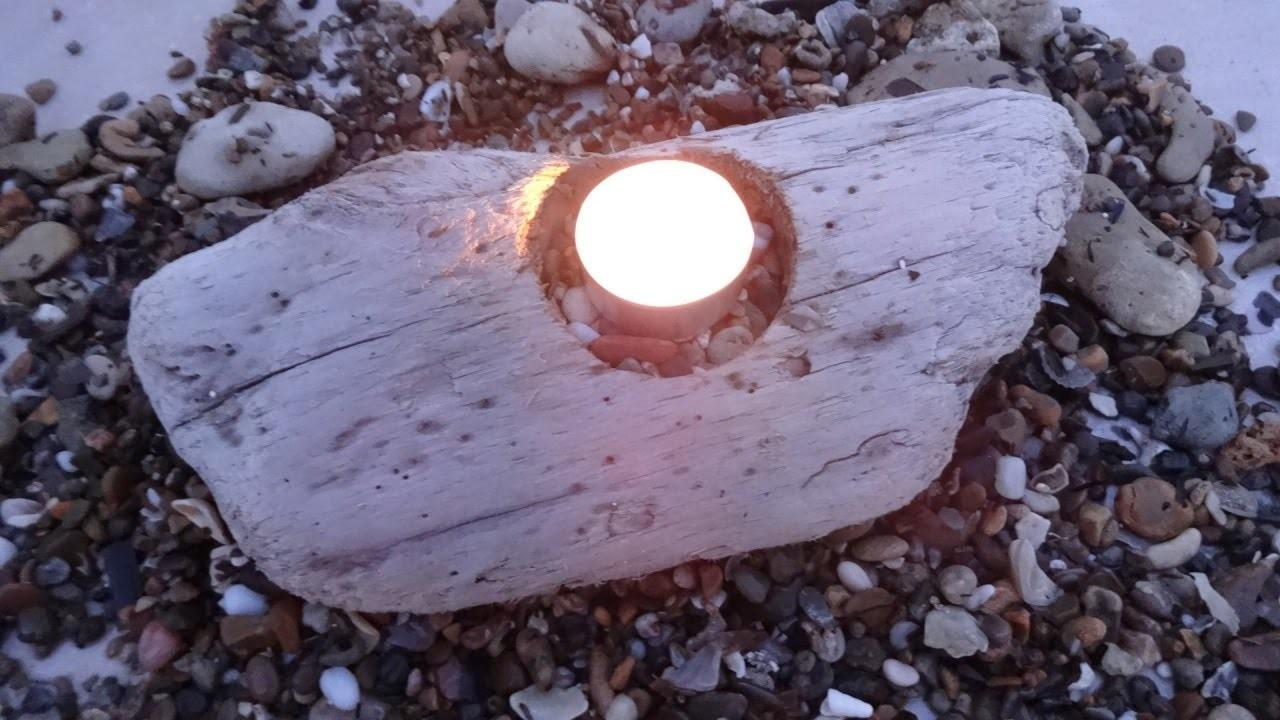 Make Simple Driftwood Candle Holder Diy Home
