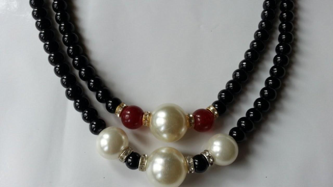 Make Simple Mixed Bead Necklace Diy Crafts