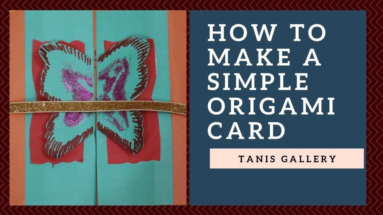 Make Simple Origami Card Fathers Day
