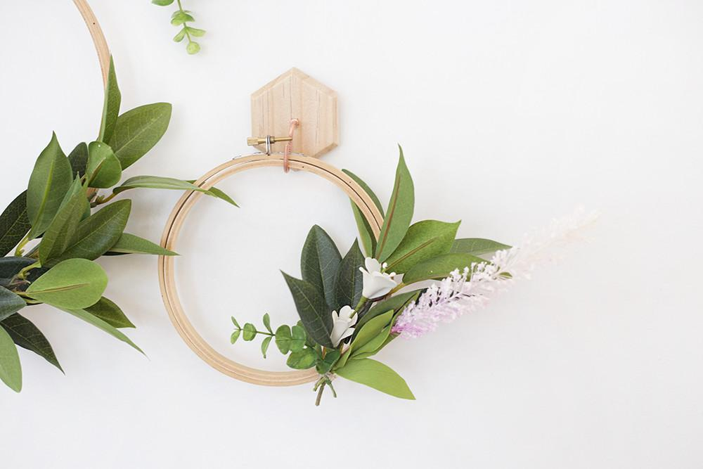 Make Simple Spring Faux Wreath Lily Val Living
