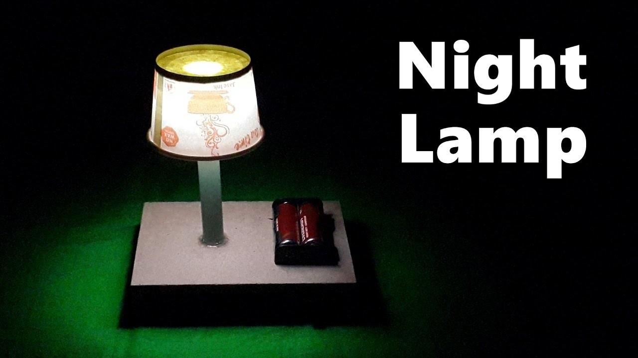 Make Simple Table Night Lamp Home