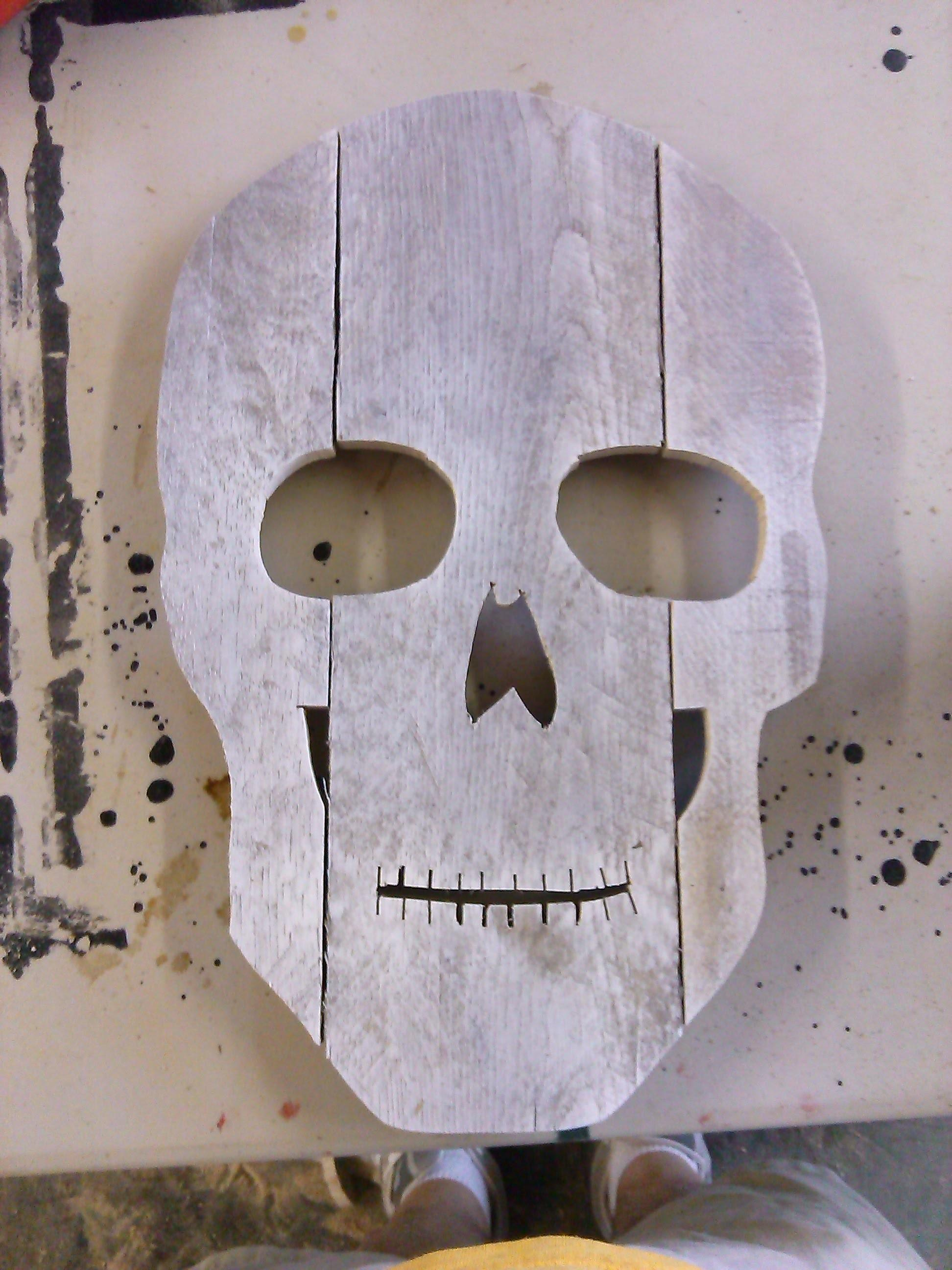 Make Skull Head Halloween Decoration Out