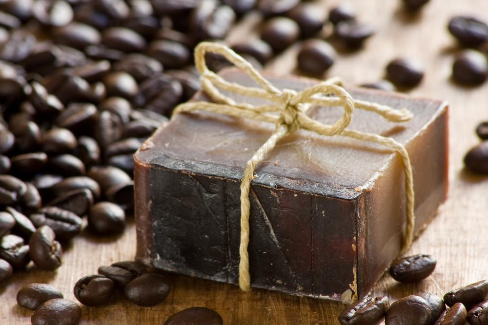 Make Soap Waste Coffee Grounds