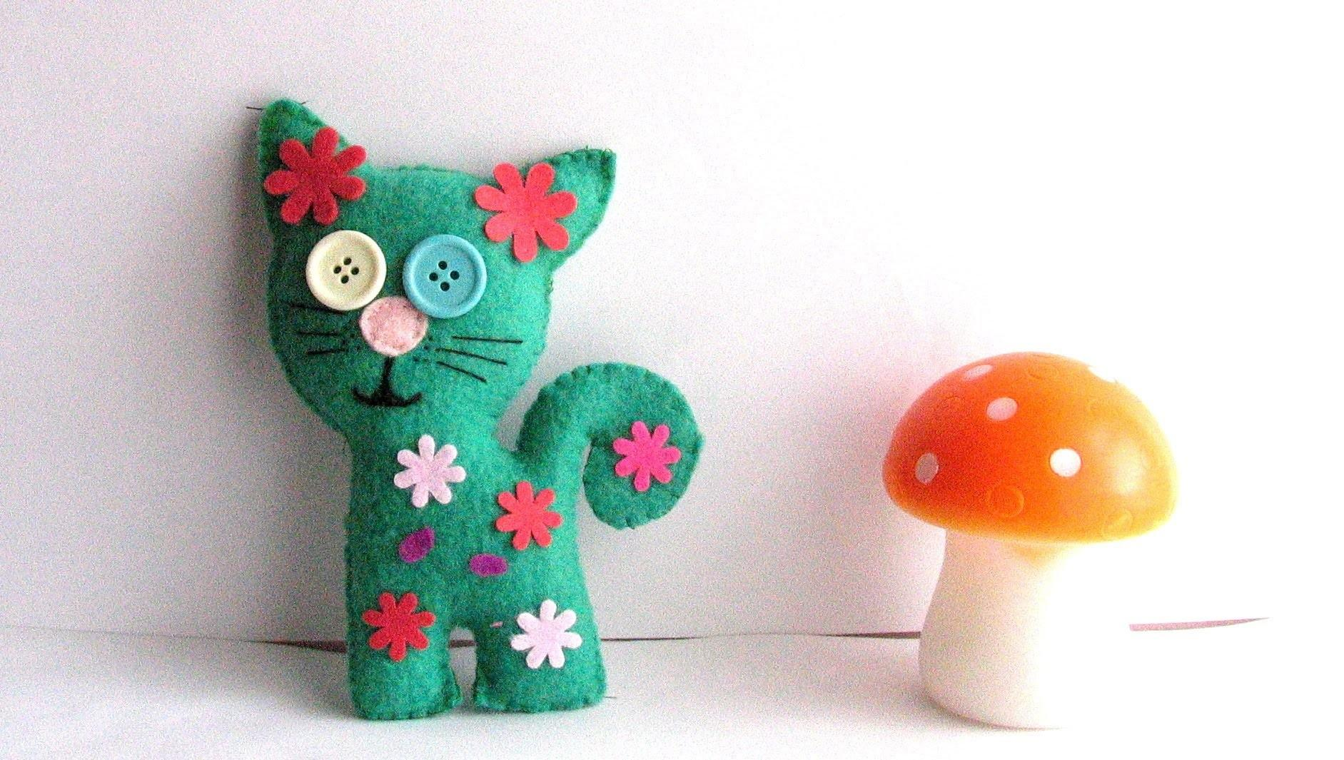 Make Soft Toy Flower Cat Quick Easy Tutorial