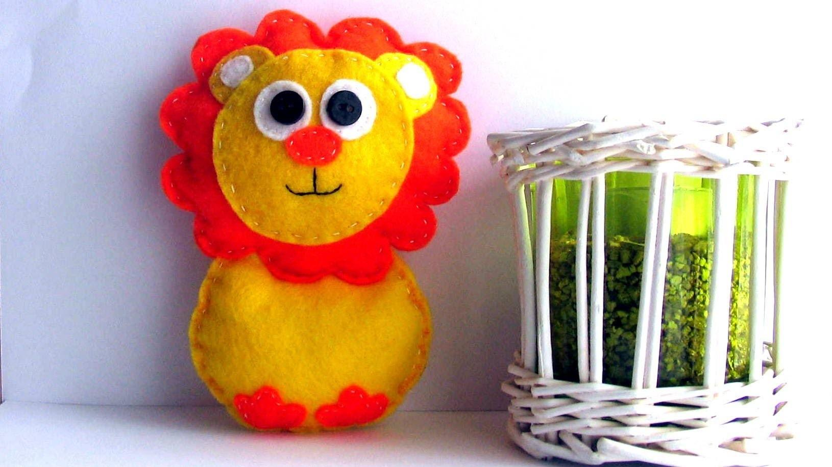Make Soft Toy Lion Quick Easy Tutorial