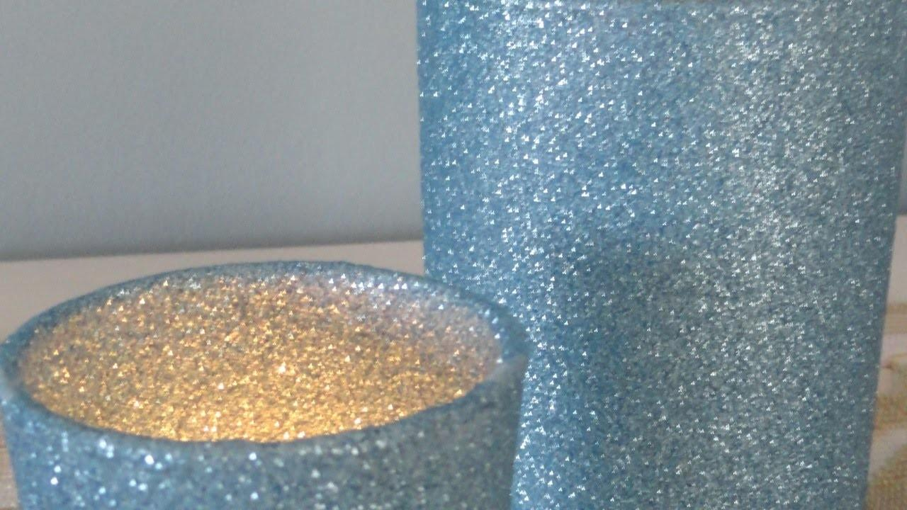 Make Sparkly Glitter Candle Holders Diy Crafts