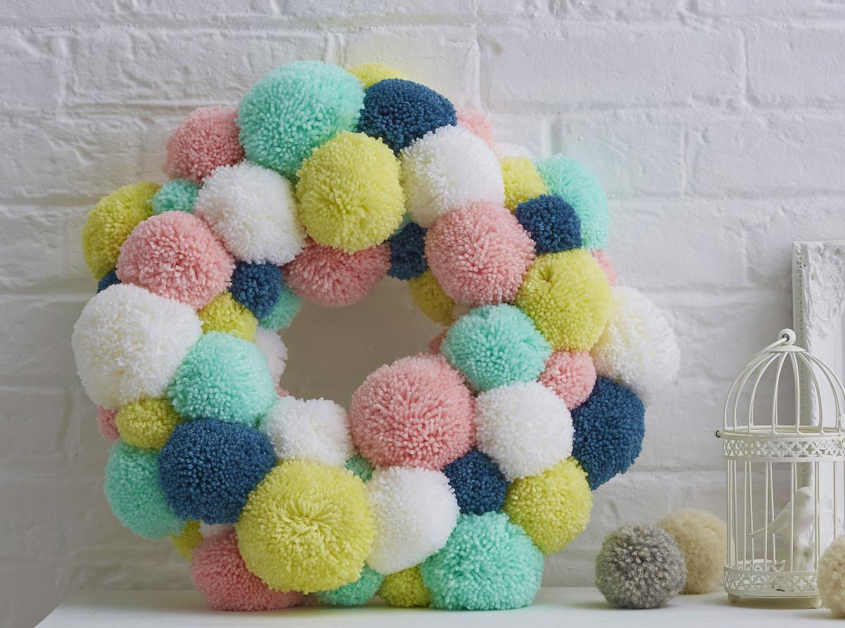Make Spring Pom Wreath Hobbycraft Blog