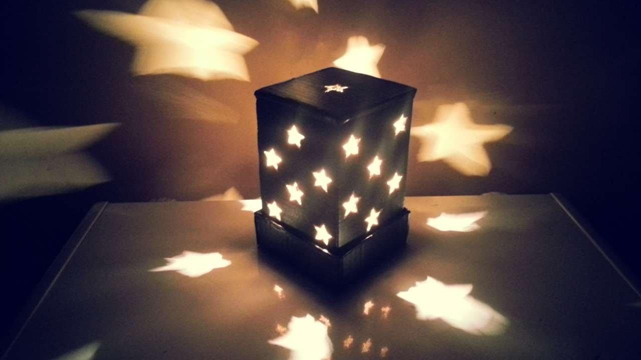 Make Starry Cardboard Lampshade Diy Home