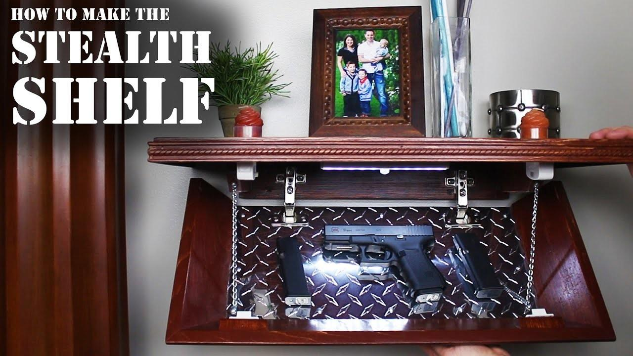 Make Stealth Shelf Homemade Concealment
