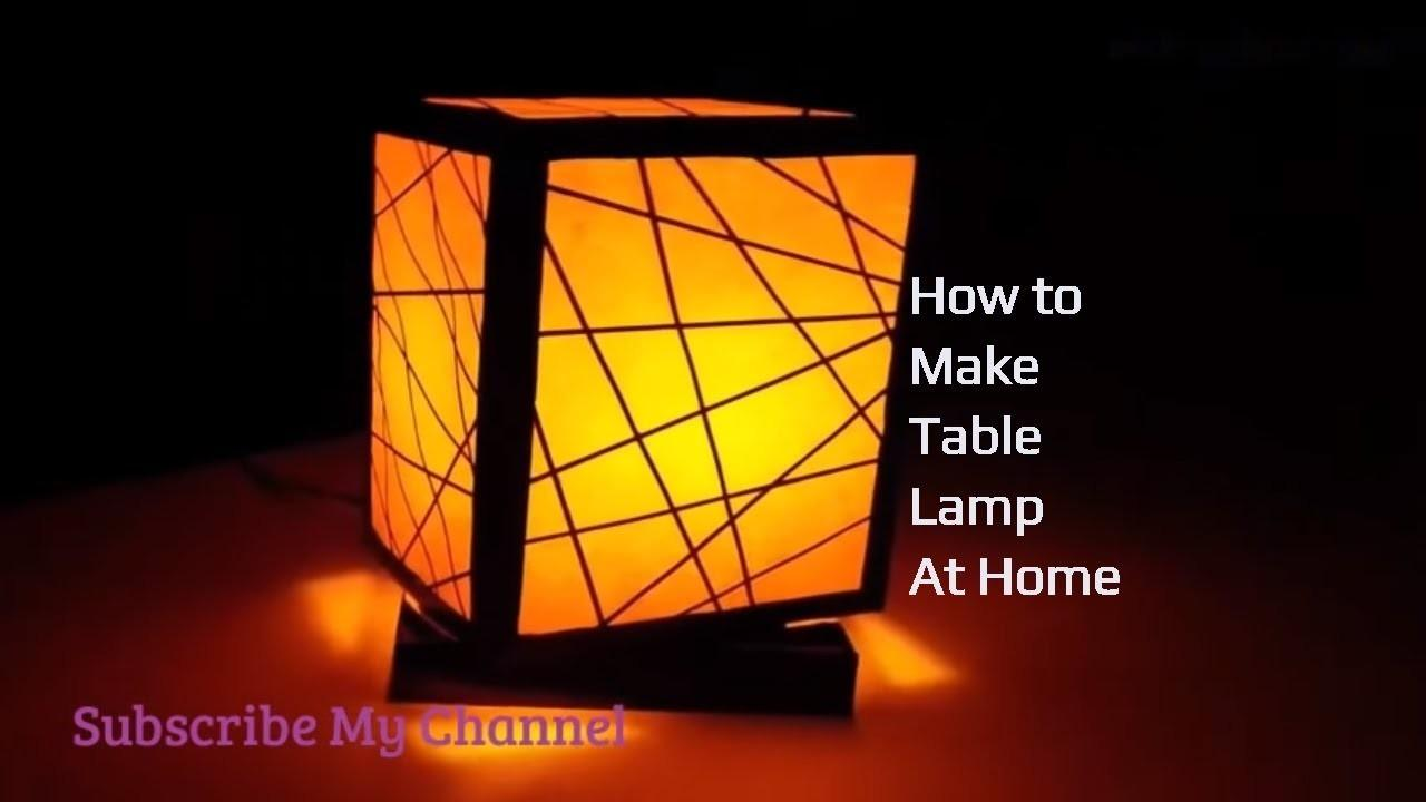 Make Table Lamp Home Waste Material Easy