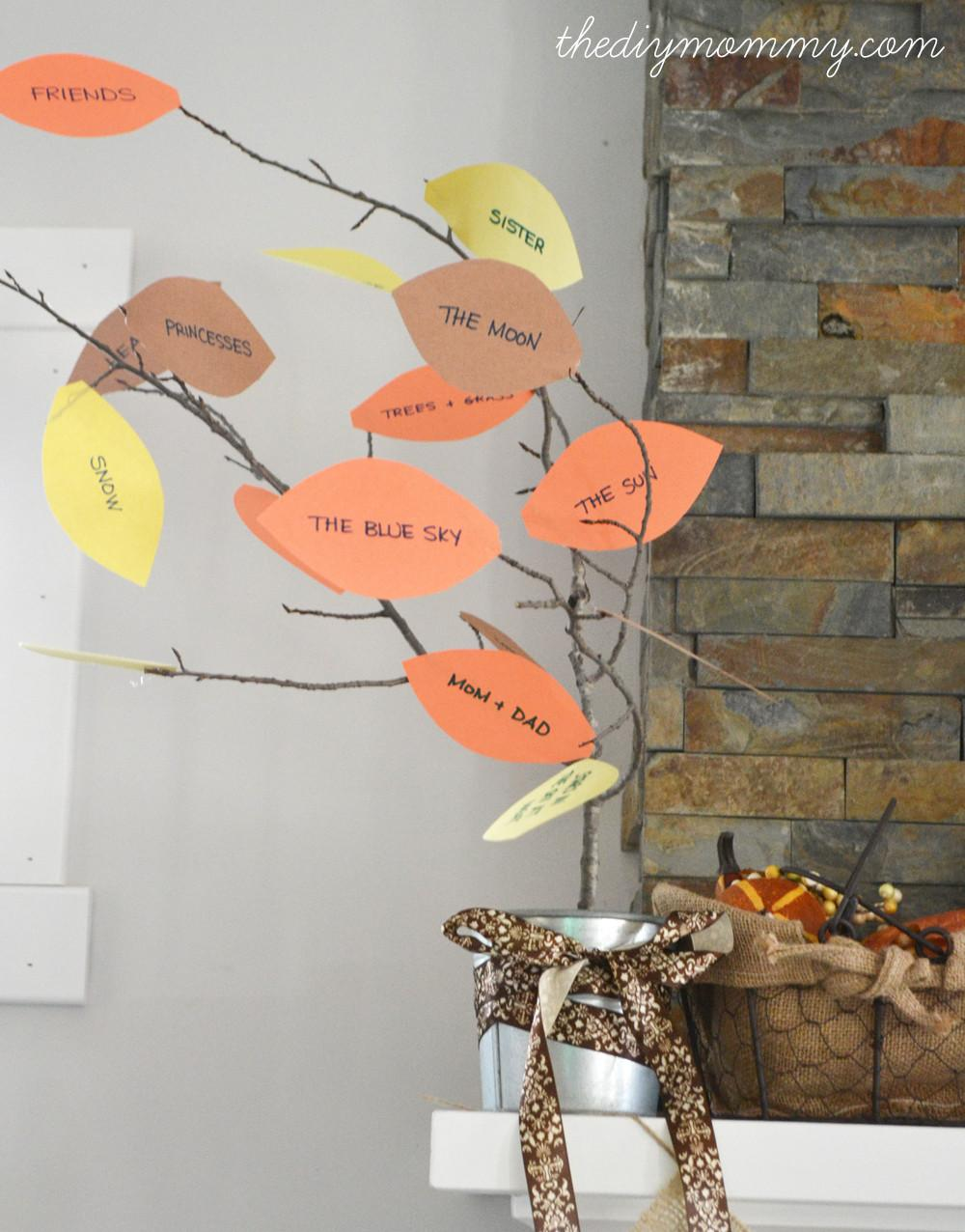 Make Thankful Tree Thankgiving Kid Craft Diy