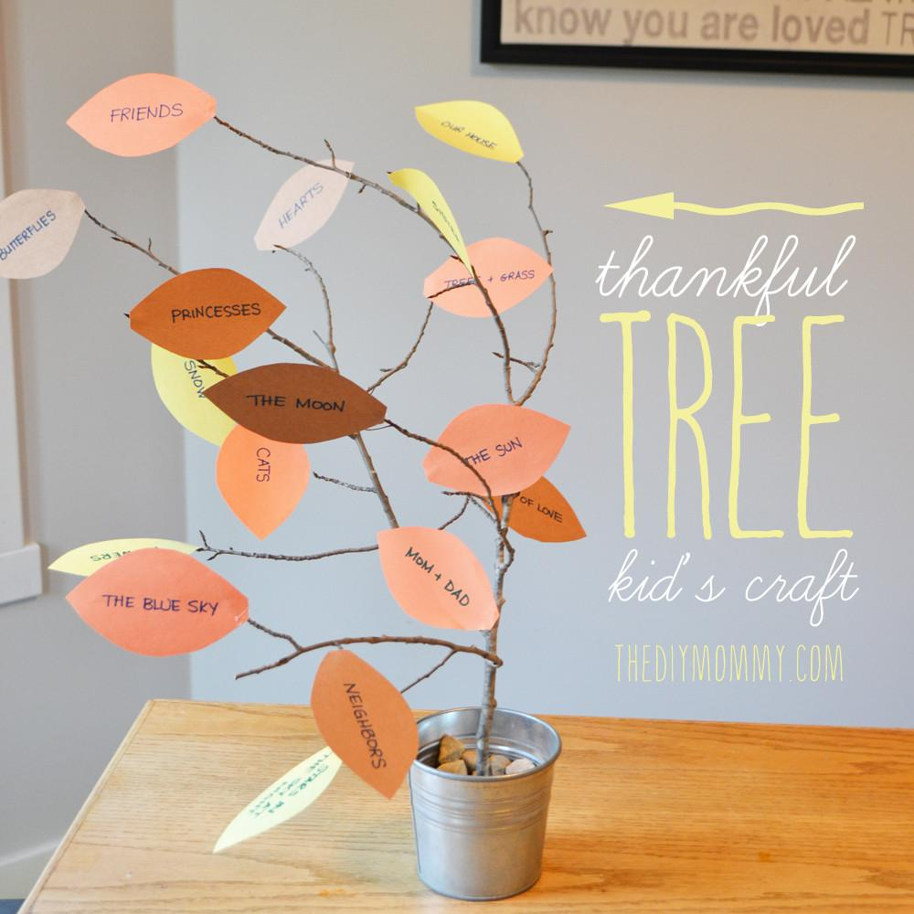 Make Thankful Tree Thankgiving Kid Craft Tip