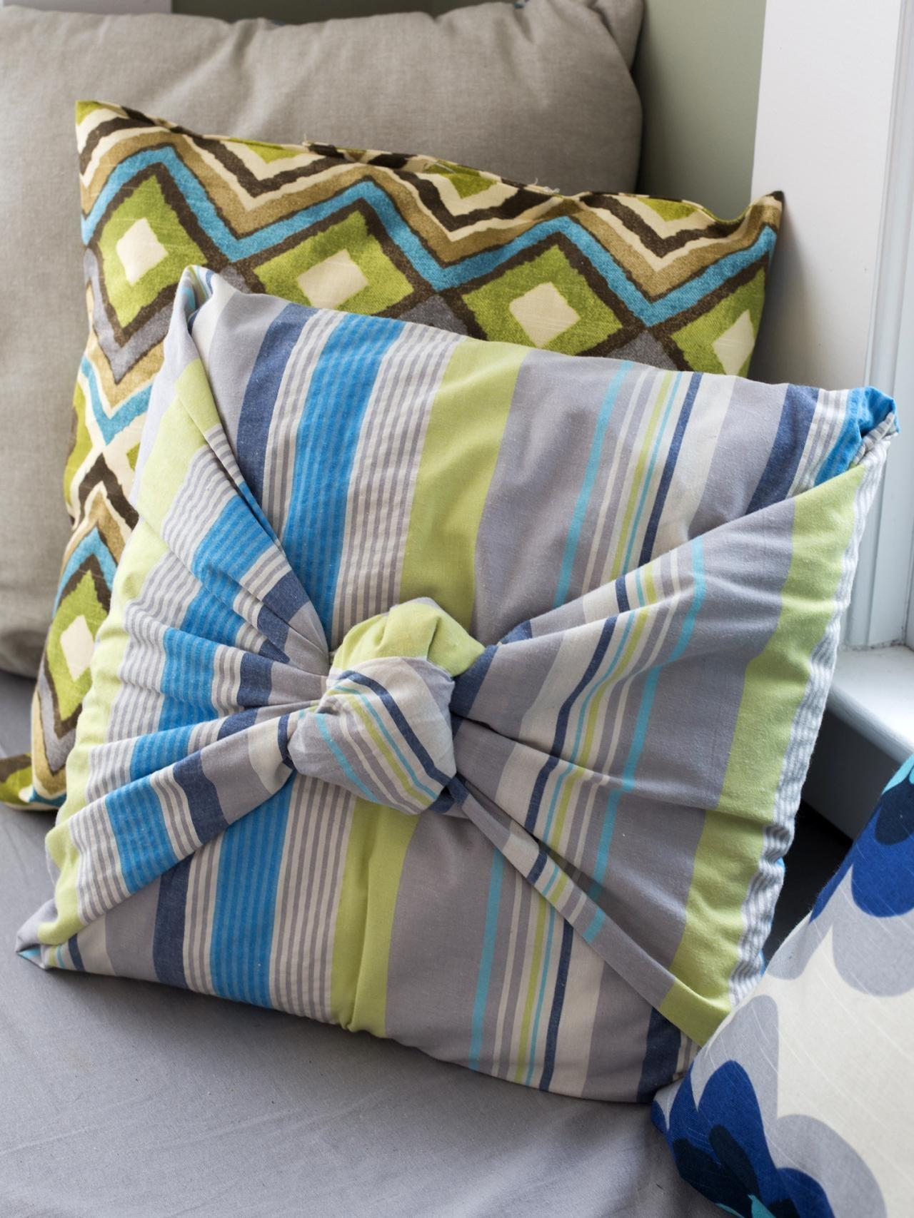 Make Throw Pillows Without Sewing Diy Home Decor