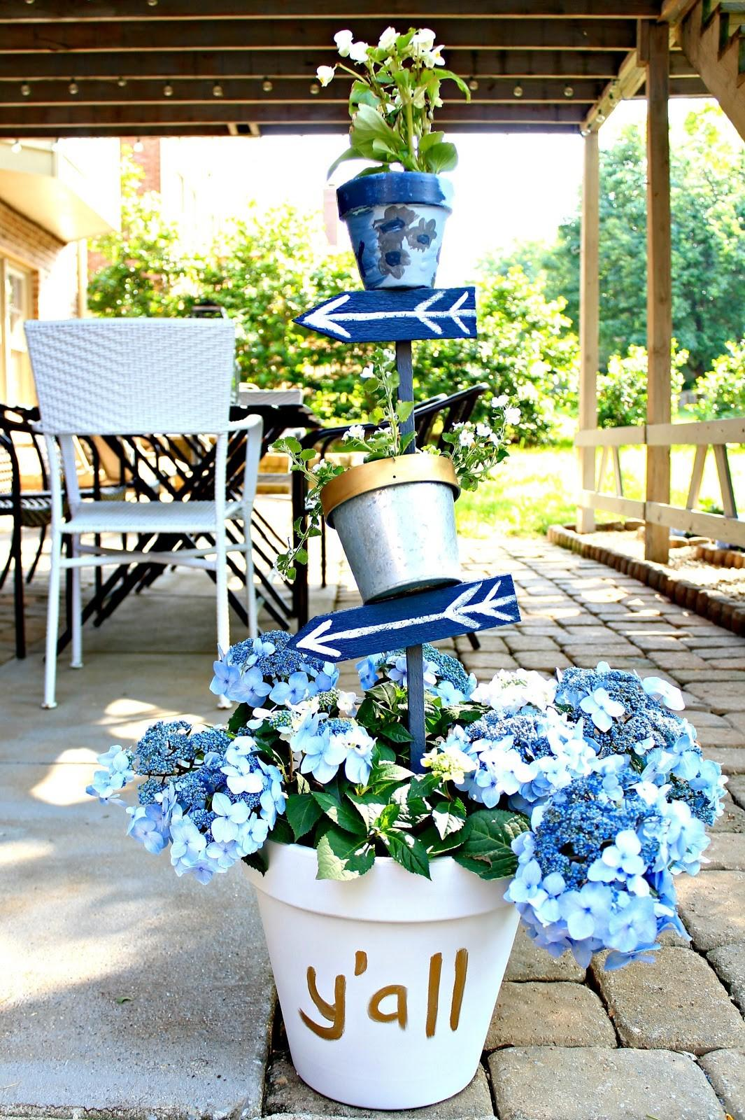 Make Tiered Planter Add Color Your Outdoor Spaces