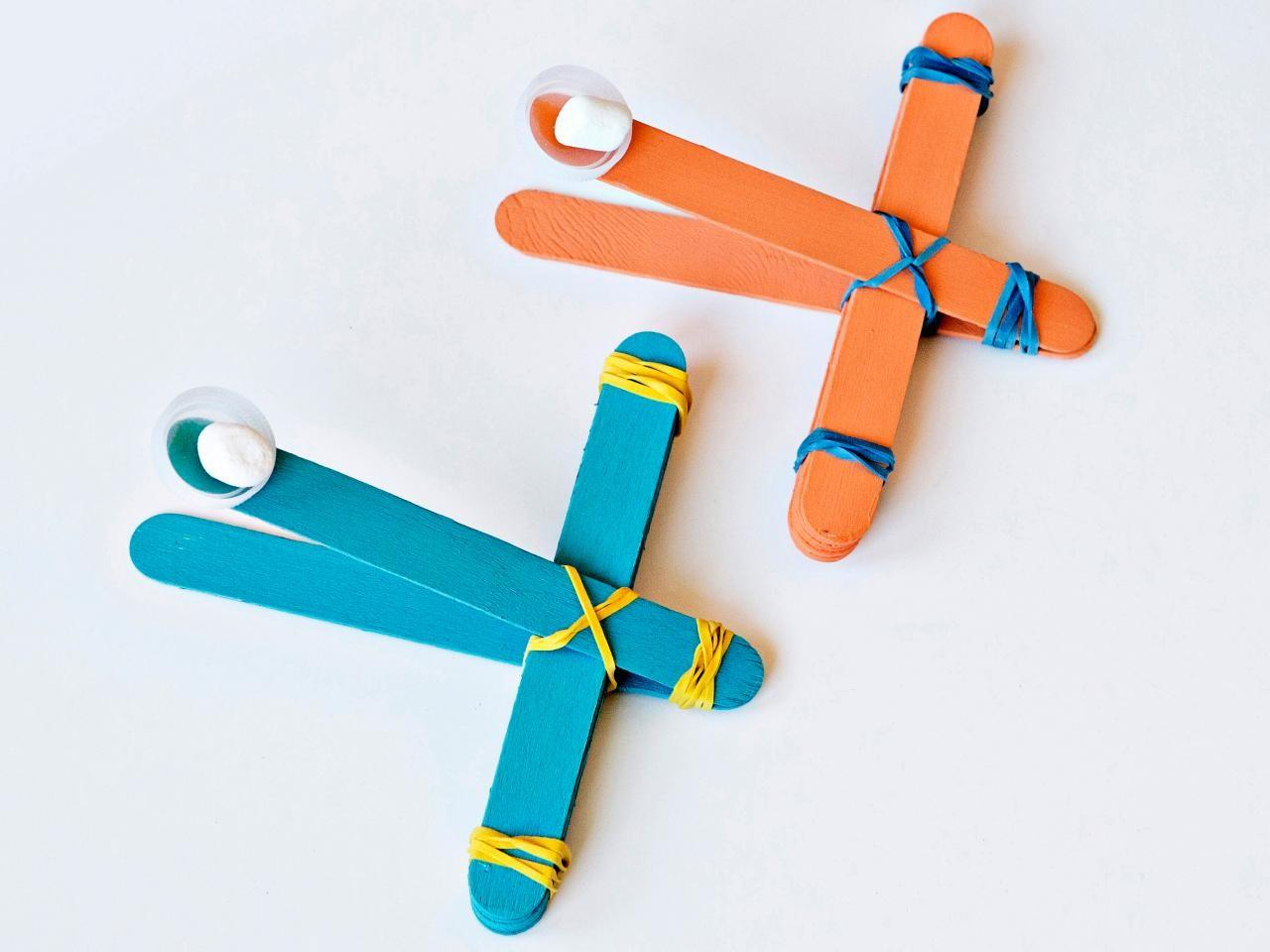 Make Toy Marshmallow Catapult Tos Diy