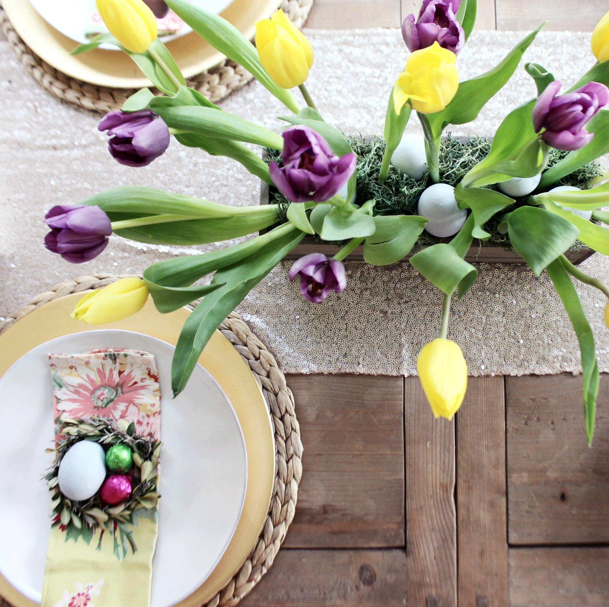 Make Tulip Centerpiece Your Easter Table