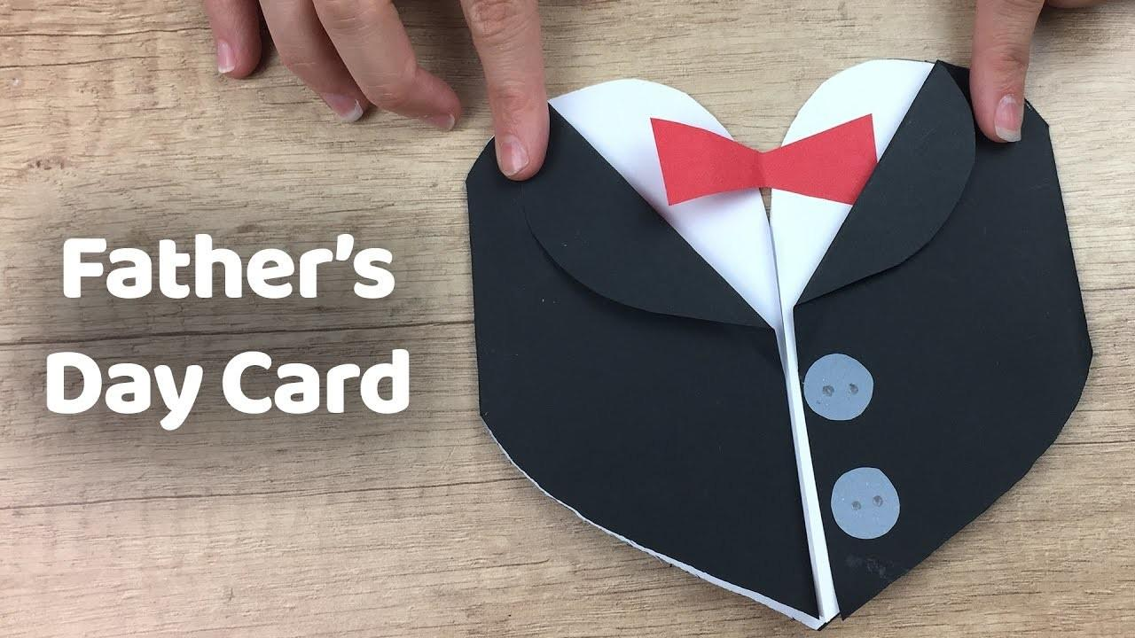 Make Tuxedo Father Day Gift Card Simple