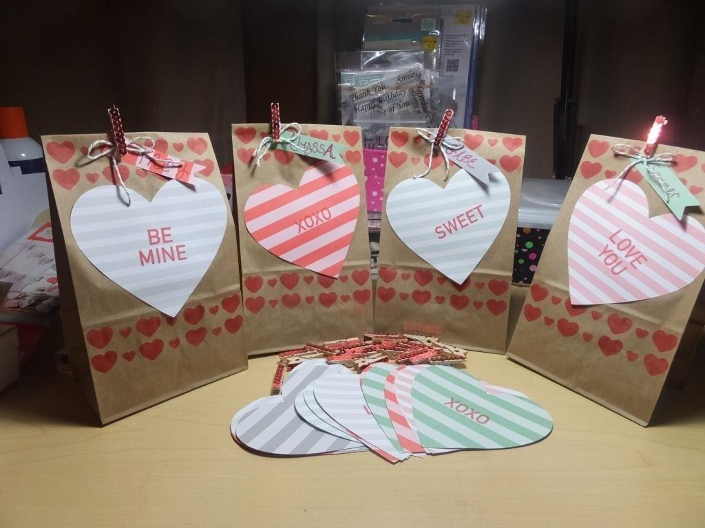 Make Valentine Heart Treat Bags January