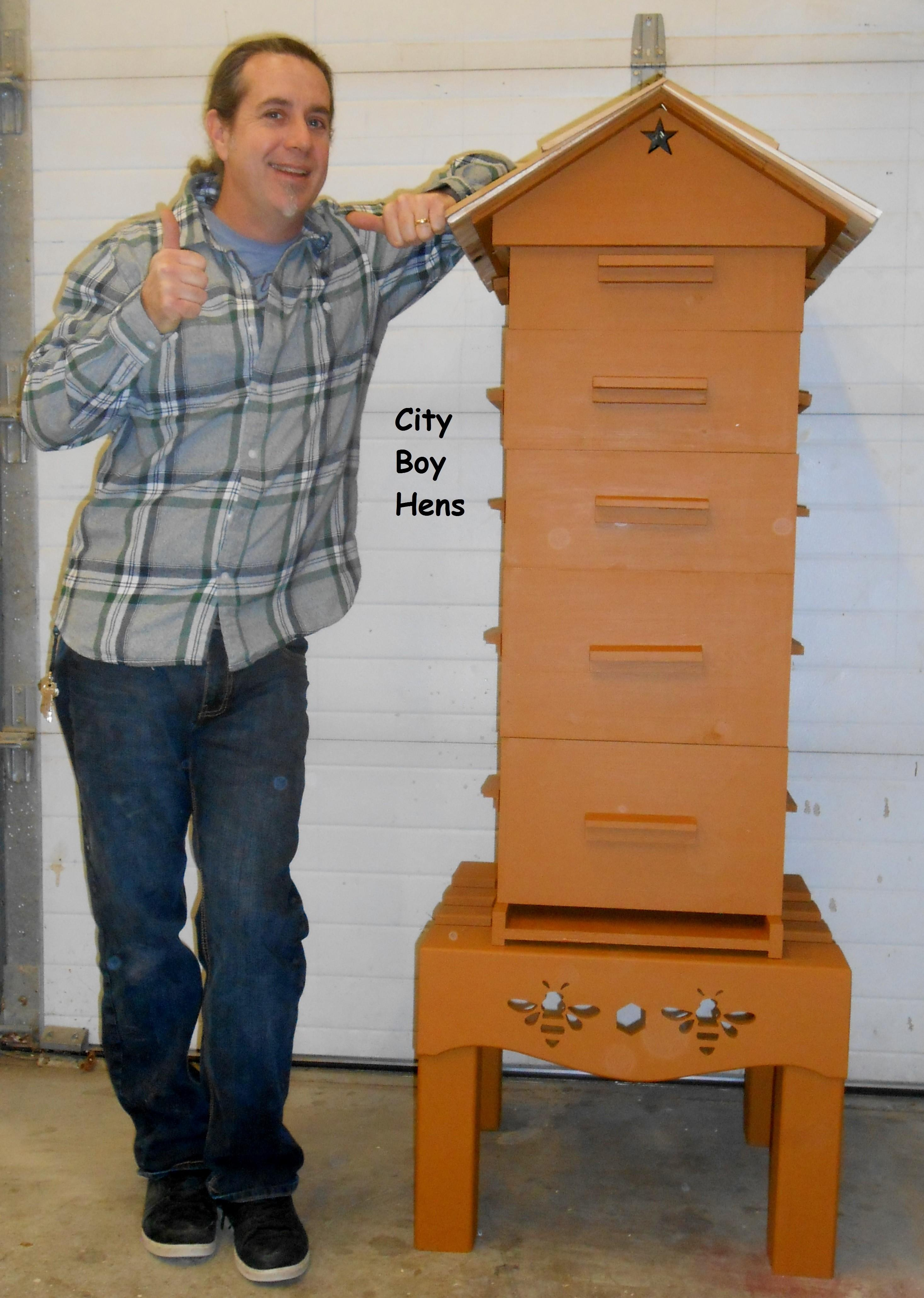Make Ventilated Gabled Beehive Roof City Boy Hens
