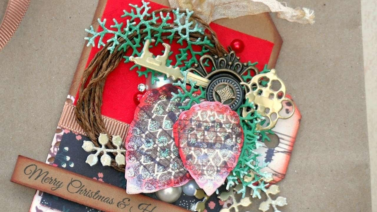 Make Vintage Christmas Tag Scratch Diy