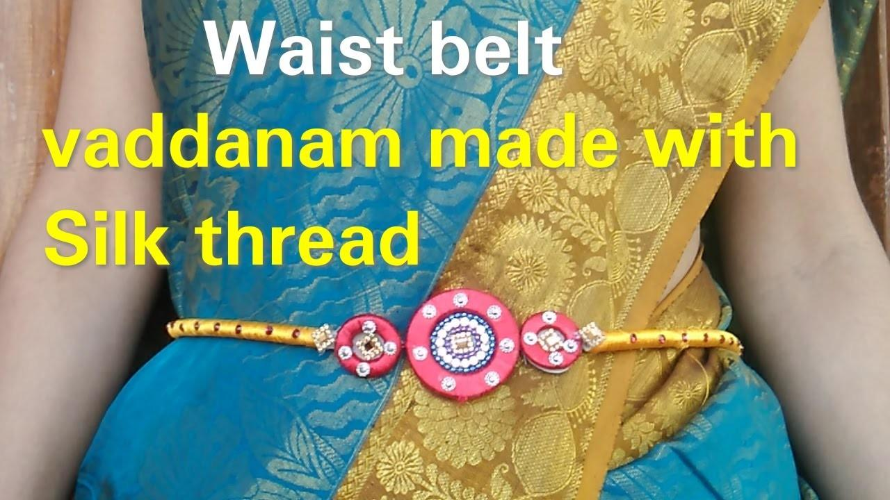 Make Waist Belt Vaddanam Silk Thread Jewellery