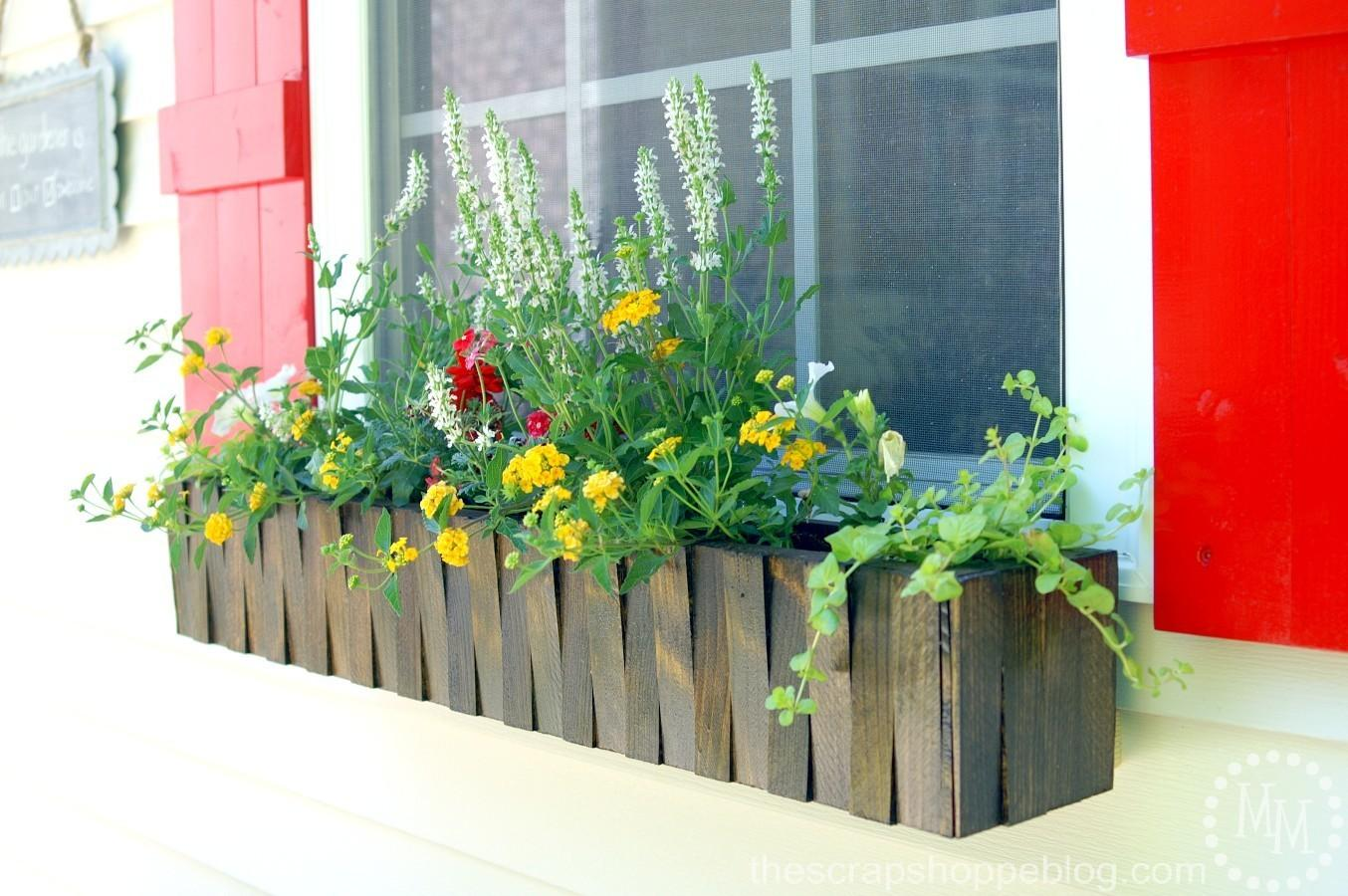 Make Window Flower Box Scrap Shoppe