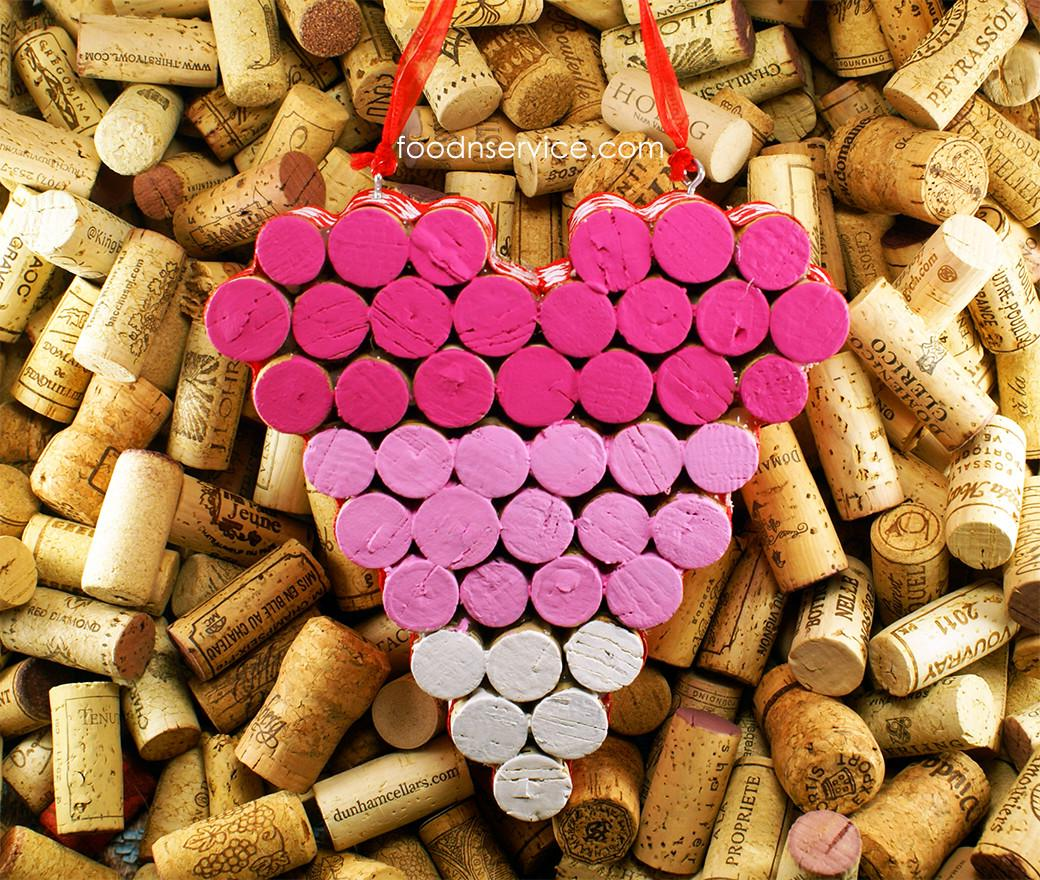 Make Wine Cork Heart Trivet Food Service