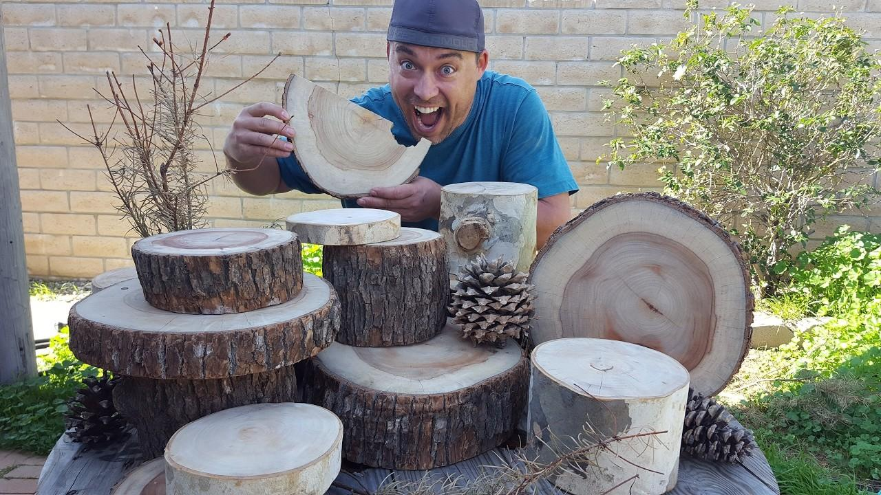 Make Wood Slice Centerpieces Tree Round Projects